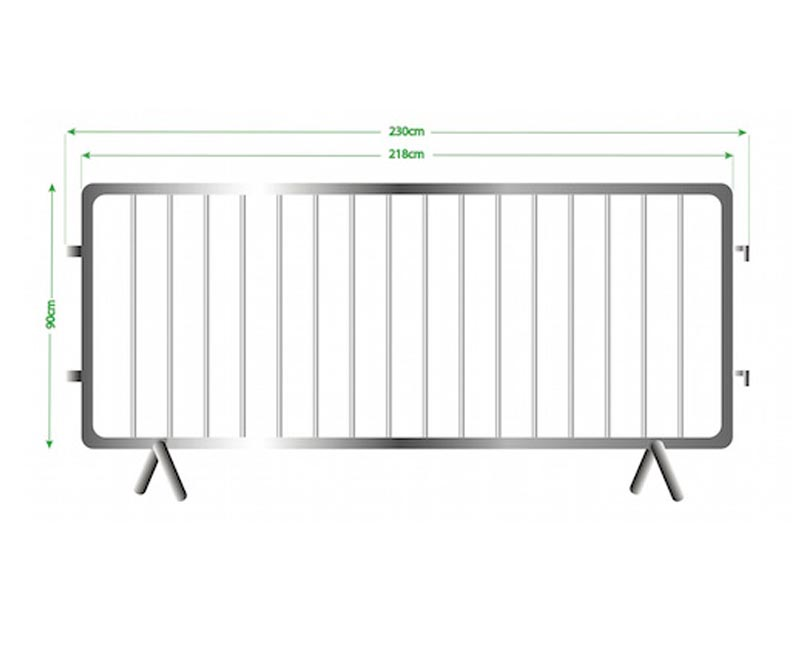 One Piece Outer Tube Steel Barricade