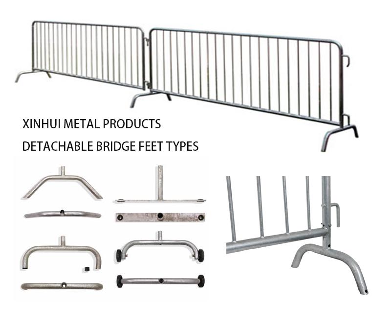 Detachable Bridge Feet Steel Barrier