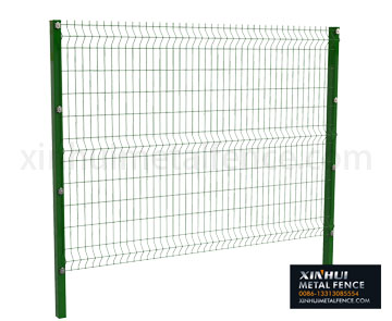 3D Panel Fence With Square Post