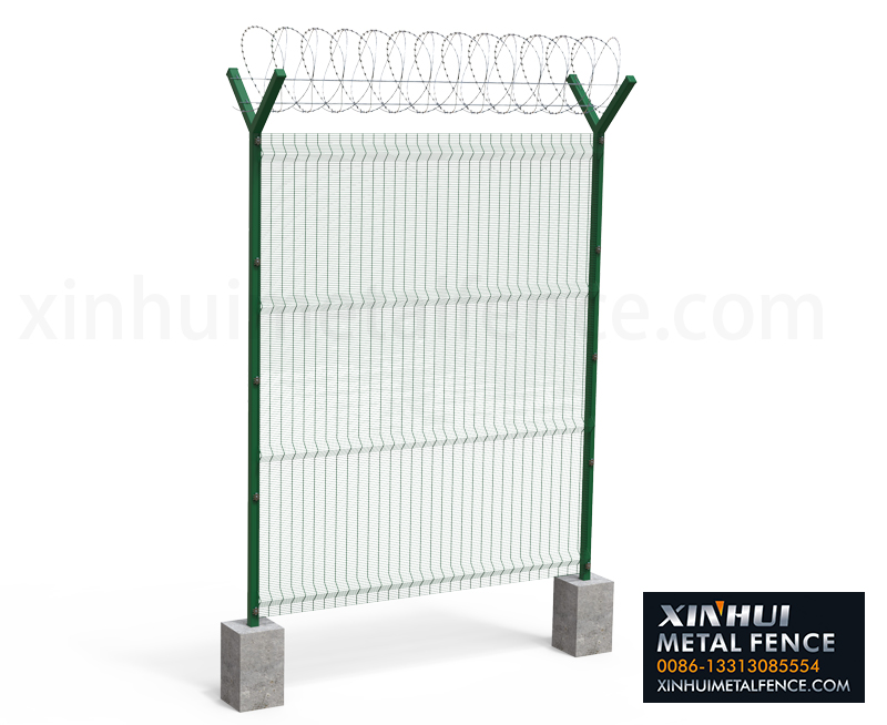 358 High Security Fence with Y post