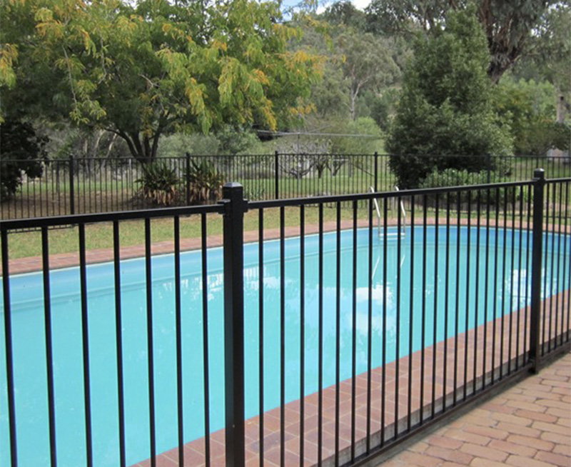 Steel Flat Top Pool Fence